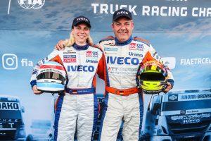 Mit Gerd Körber holte Steffi Halm einen Doppelsieg am Nürburgring